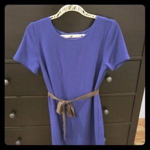 Bobeau XS blue shirt dress with cutout back.